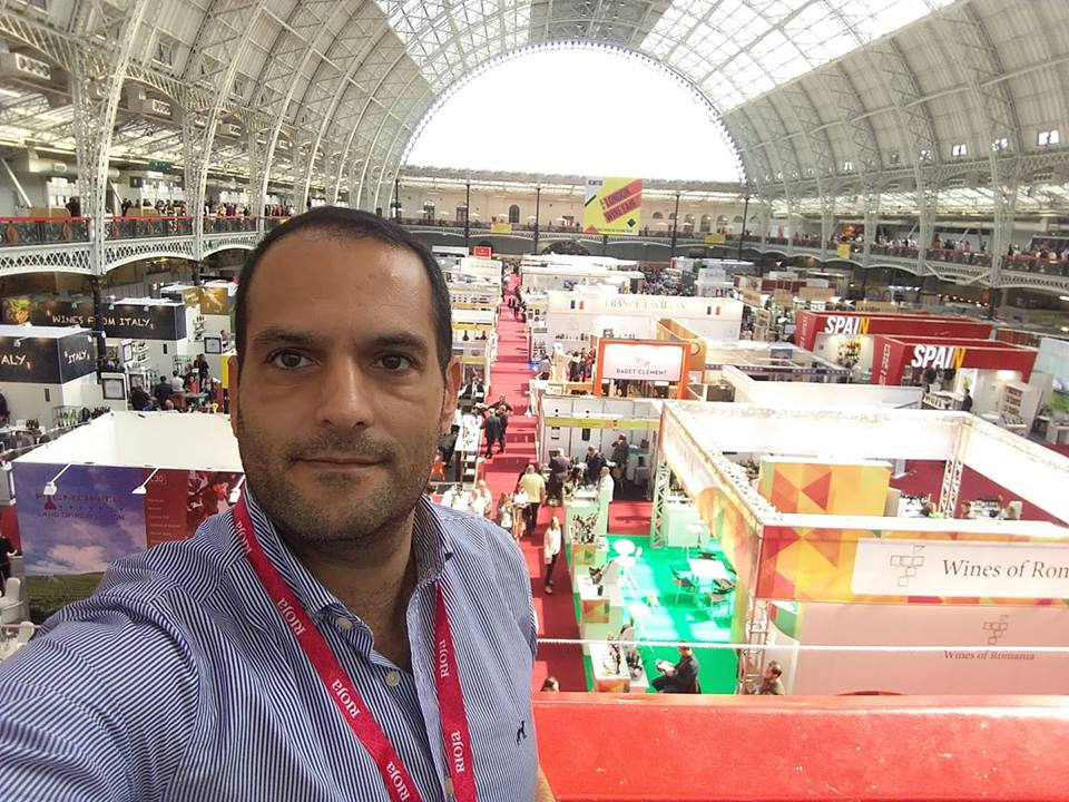 Eng Gilmar Brito na London WIne Fair