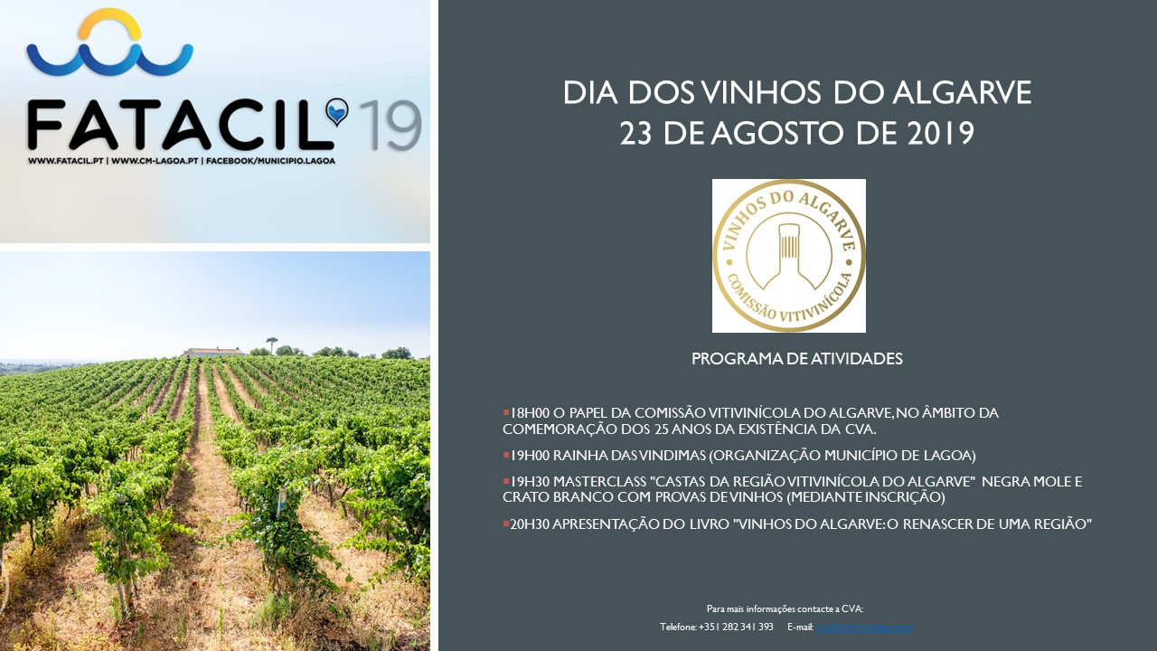 Programa do Dia dos Vinhos do Algarve na Fatacil